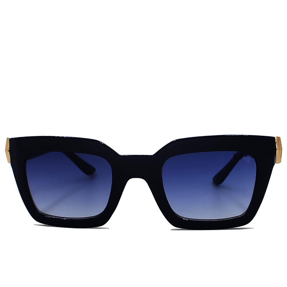 Blue Straight Face Woman Sunglasses