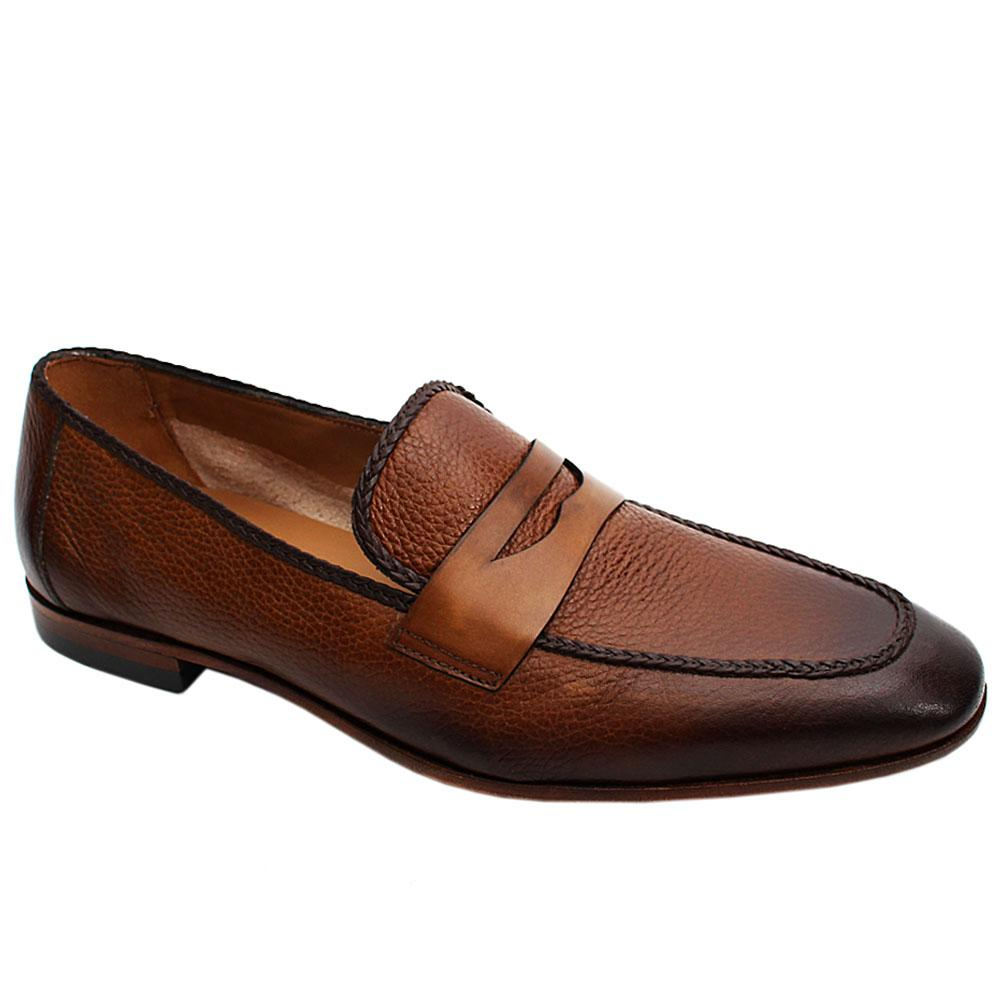 Coffee Mix Flother Italian Leather Men Penny Loafers