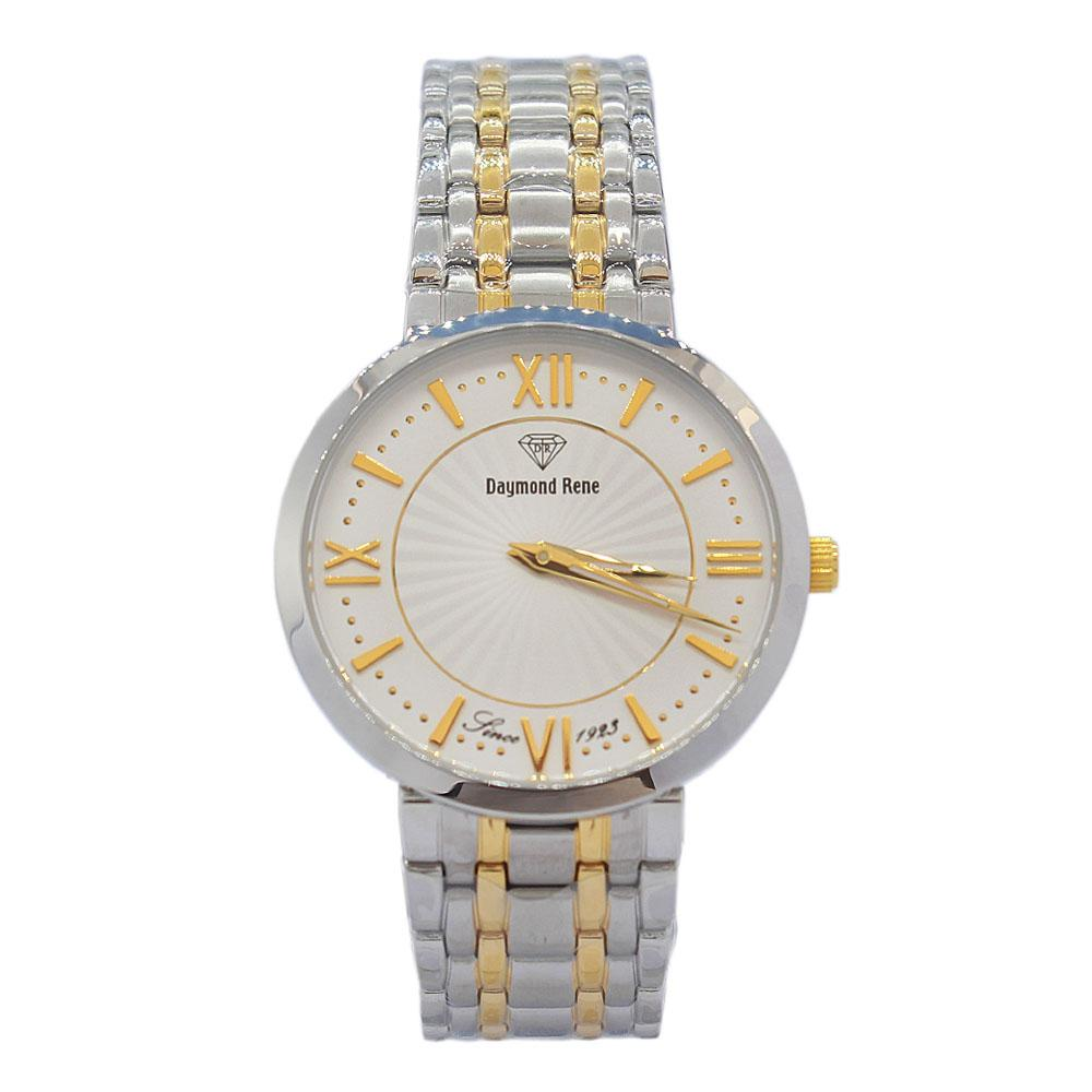 DR 5ATM 2-Tone Stainless Steel Flat Watch