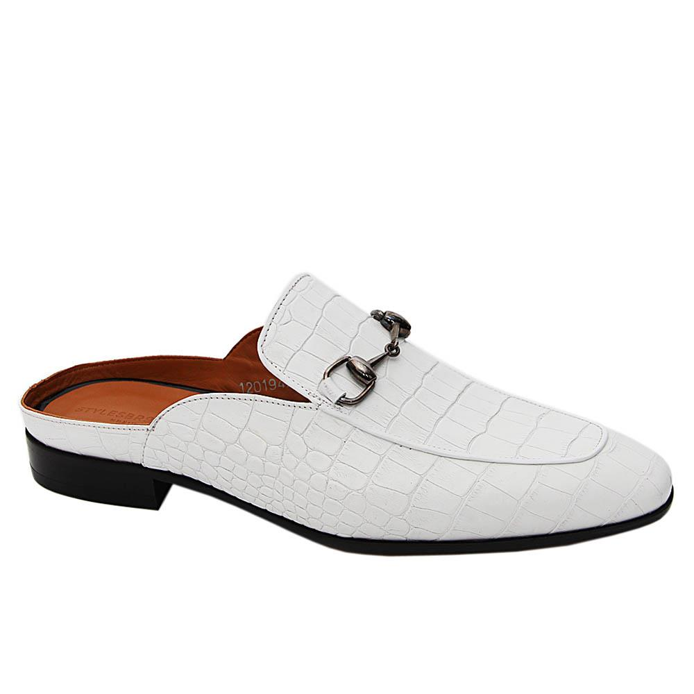White Apollo Italian Leather Half Shoe