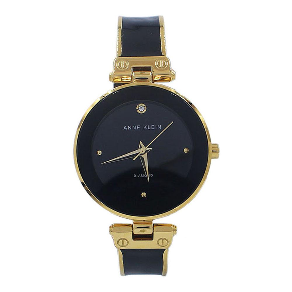 Anne Klein Gold Black Fashion Ladies Watch