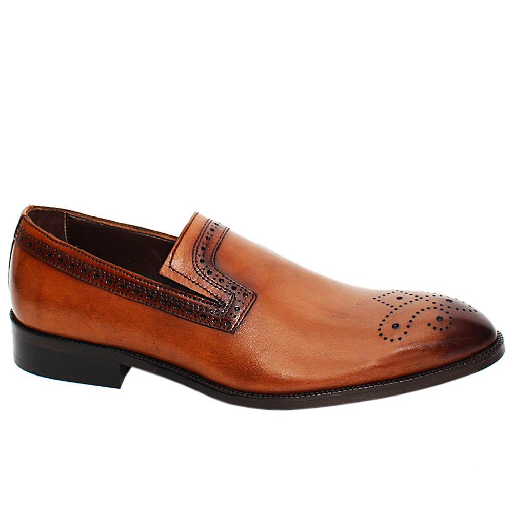 Brown-Leon-Roy-Leather-Men-Penny-Loafers