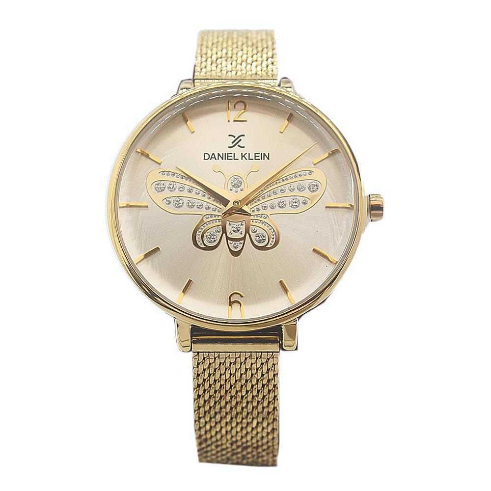 Daniel Klein Butterfly Gold Stainless Mesh Ladies Watch