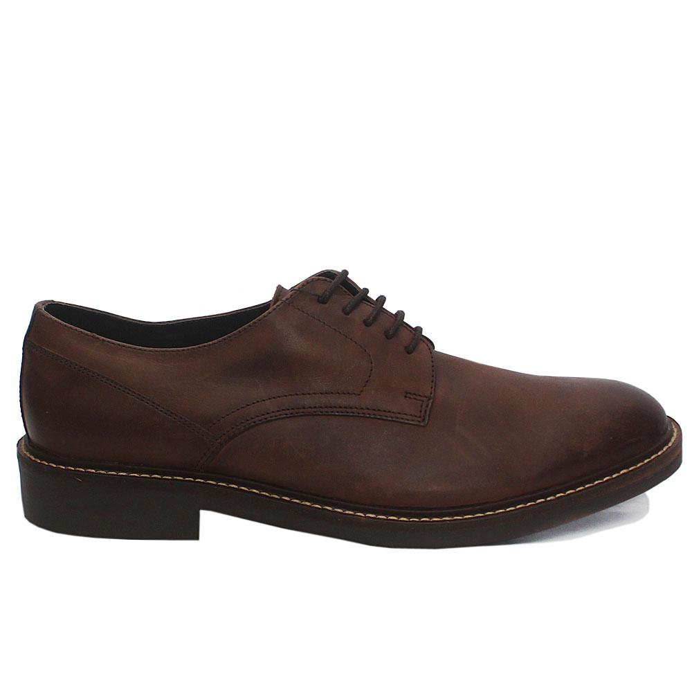 Coffee Leather Men Shoes