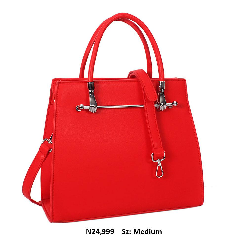 Red NorriLeather Tote Handbag