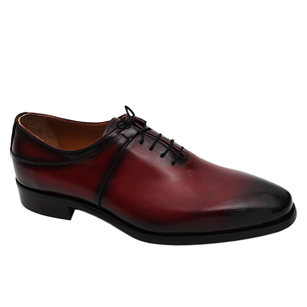 Wine Nicolas Italian Leather Oxford Shoe
