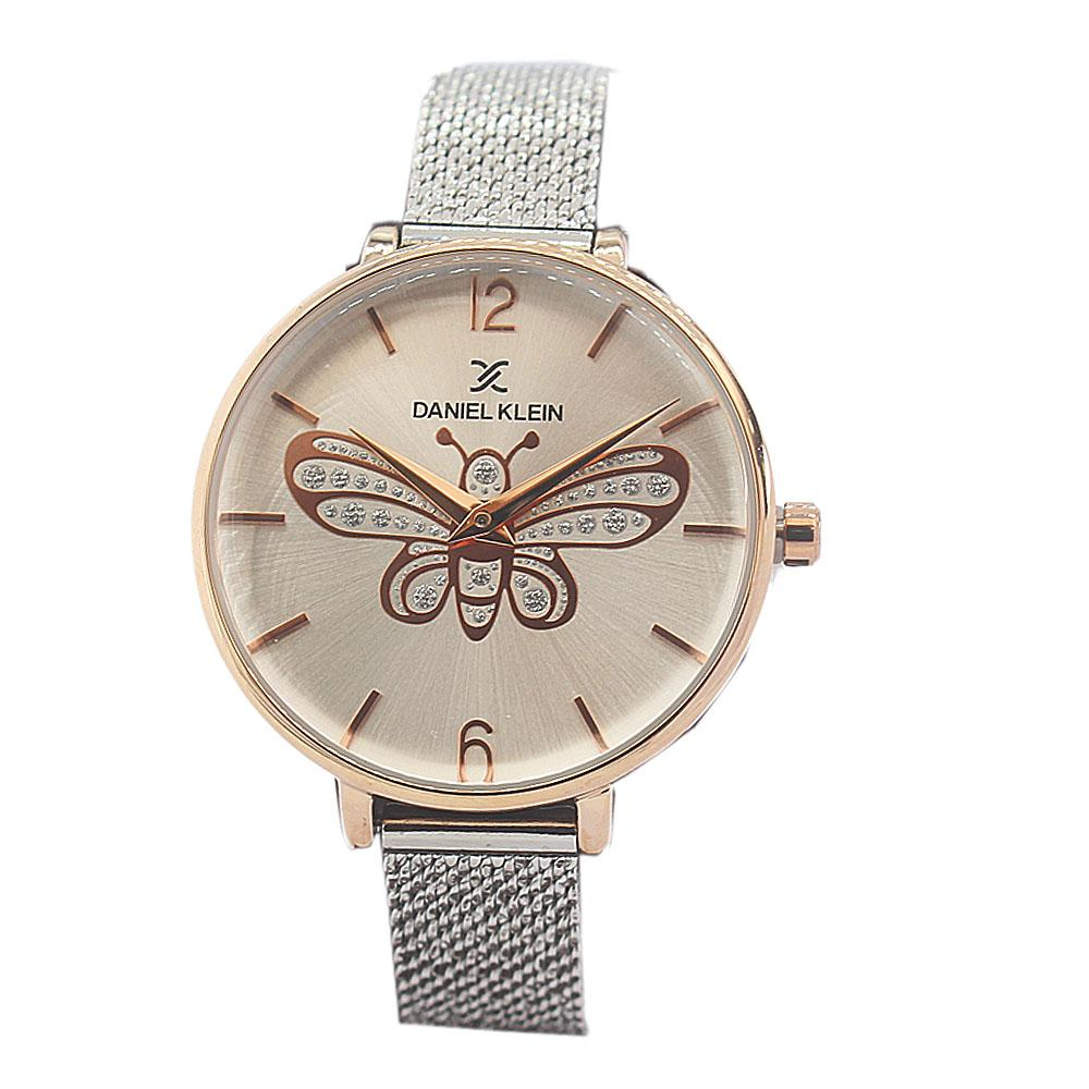 Daniel Klein Butterfly Gold Silver Stainless Mesh Ladies Watch