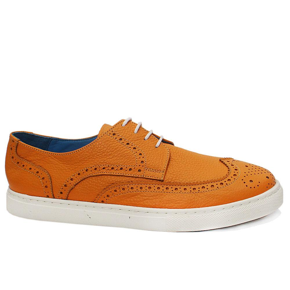 Reed Yellow Leather Brogue Shoes
