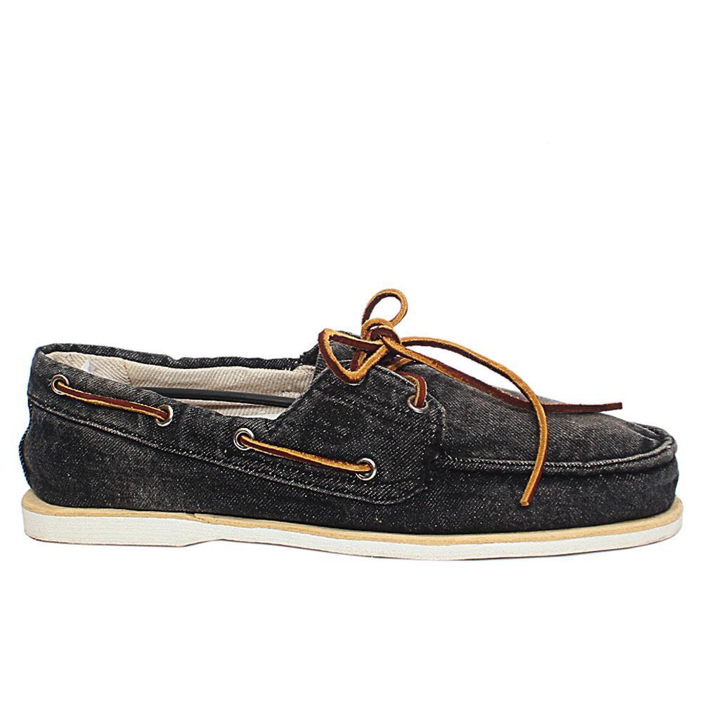 Black Denim Men Loafers