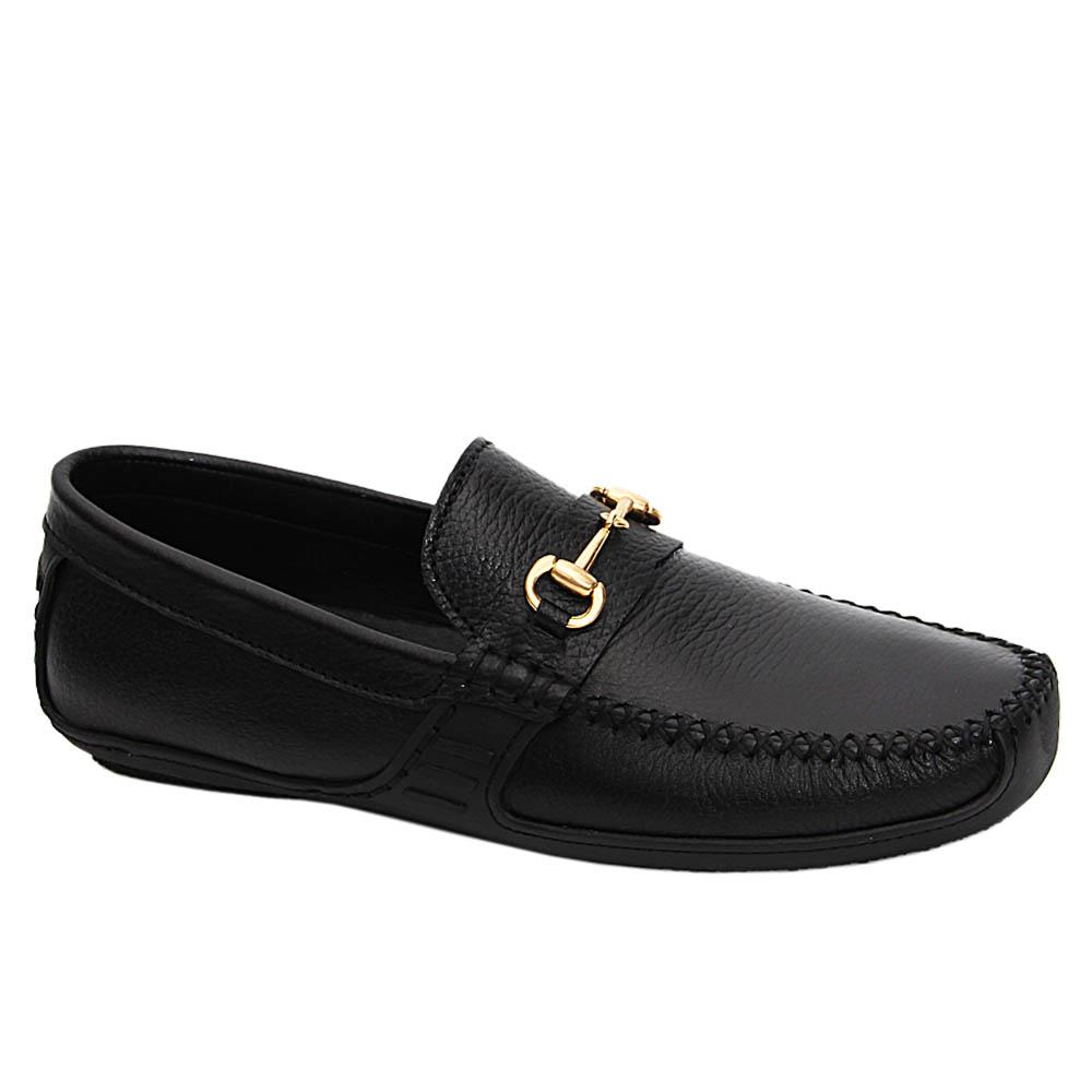 Black Fabio Ace Italian Leather Drivers Shoe