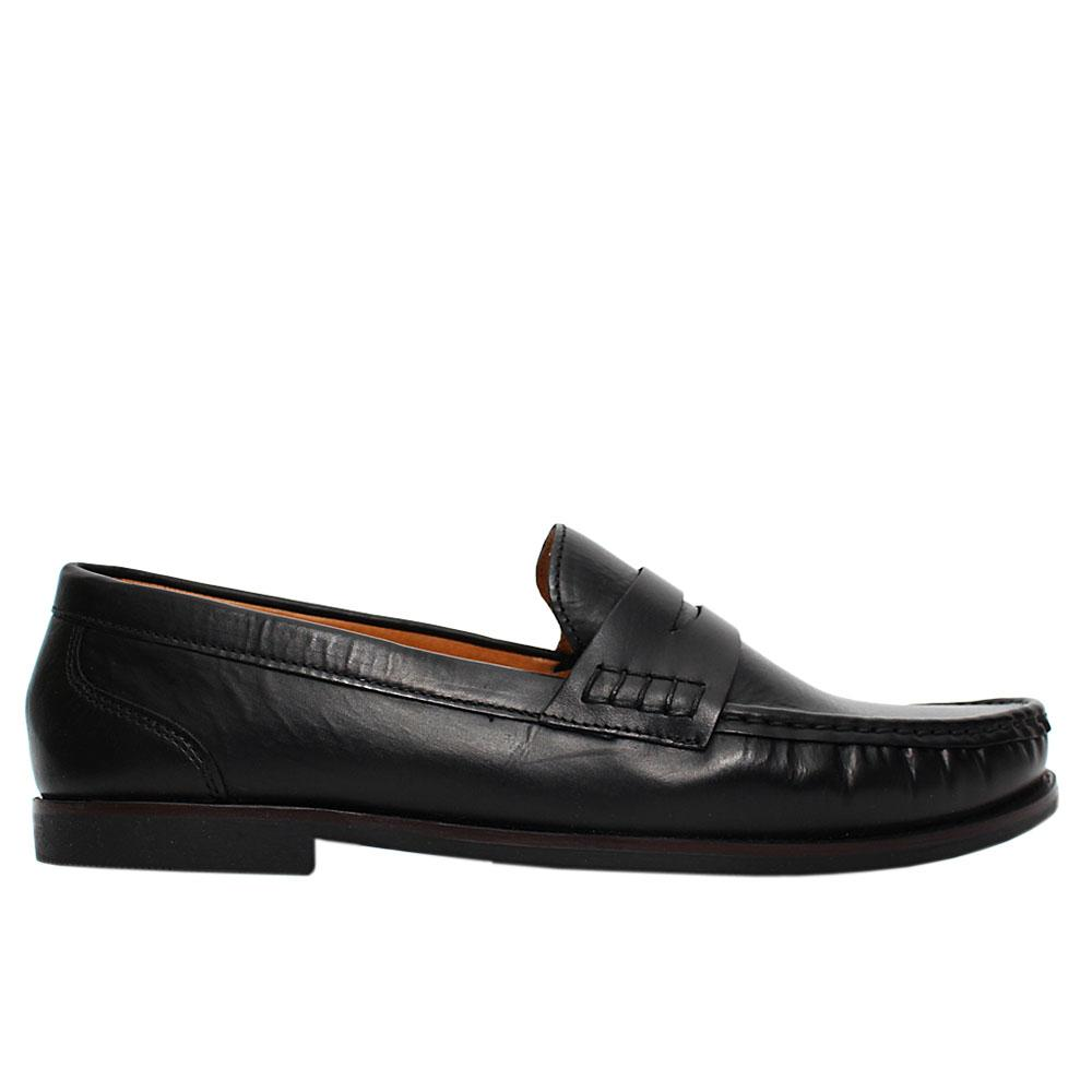 Black Kyle Leather Penny Loafers