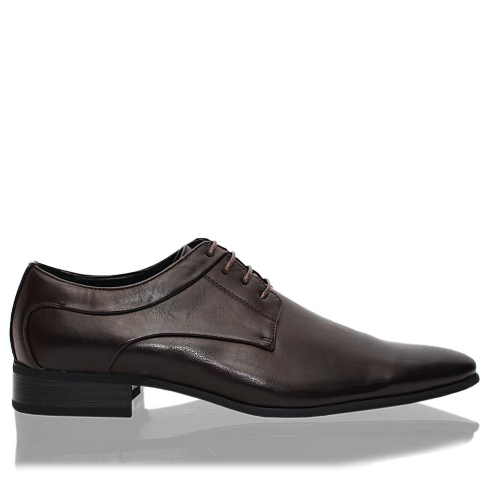 Coffee Brown Harold Leather Men Derby Shoes