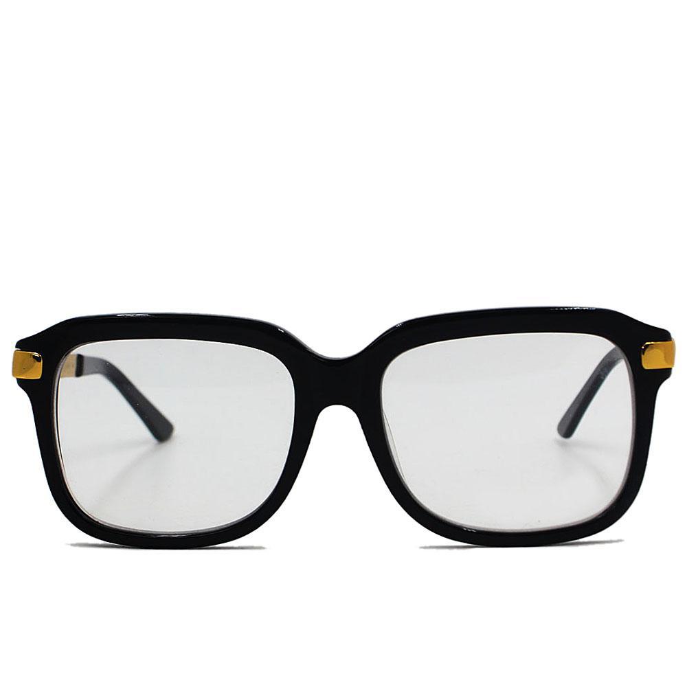 Black Polarized Square Face Wide Fit Eyeglasses