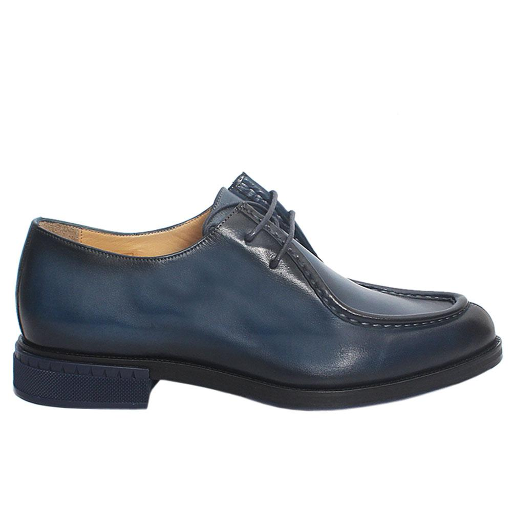 Blue Wiz Italian Leather Men Oxford Shoes