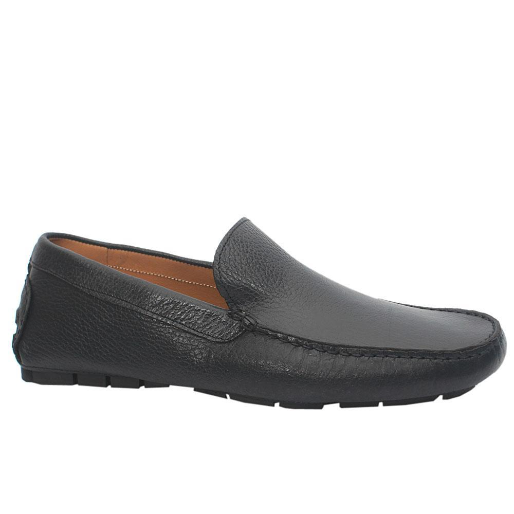 Navy Leather Drivers Shoes