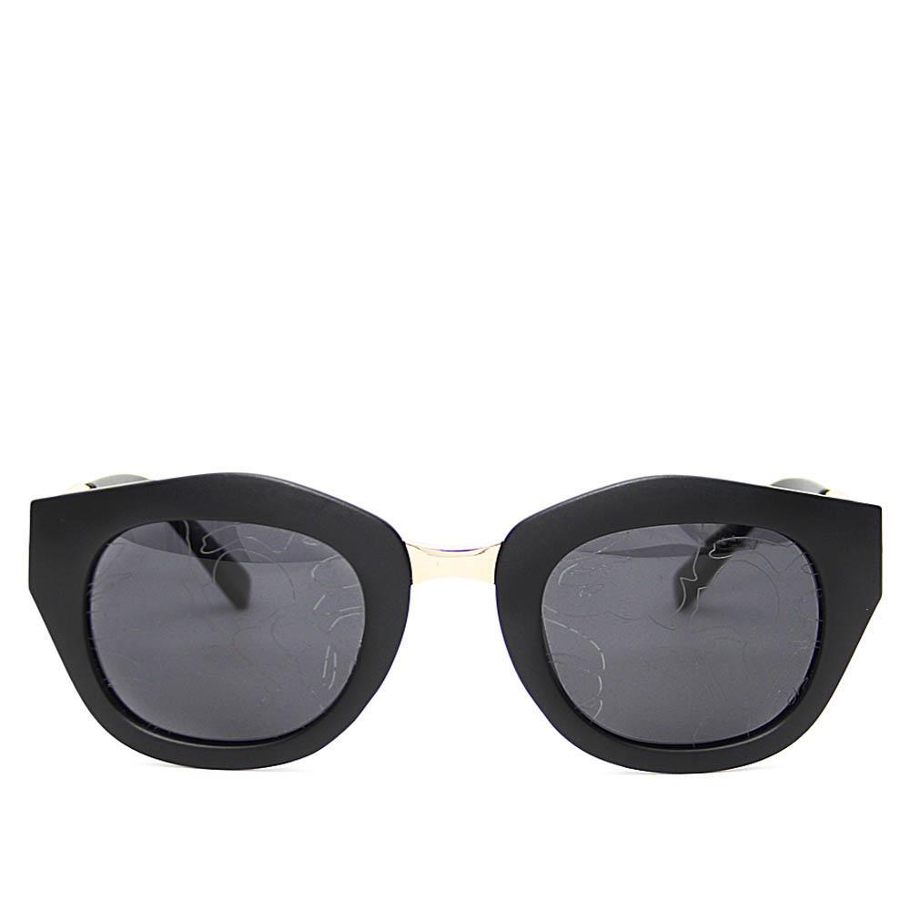 Gold Black Wayfarer Dark Patterned Lens Sunglasses