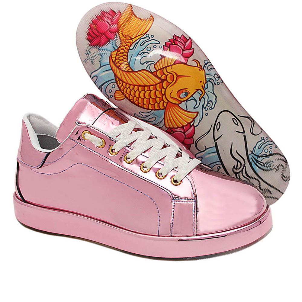Pink Amari Haven Patent Italian Leather Sneakers
