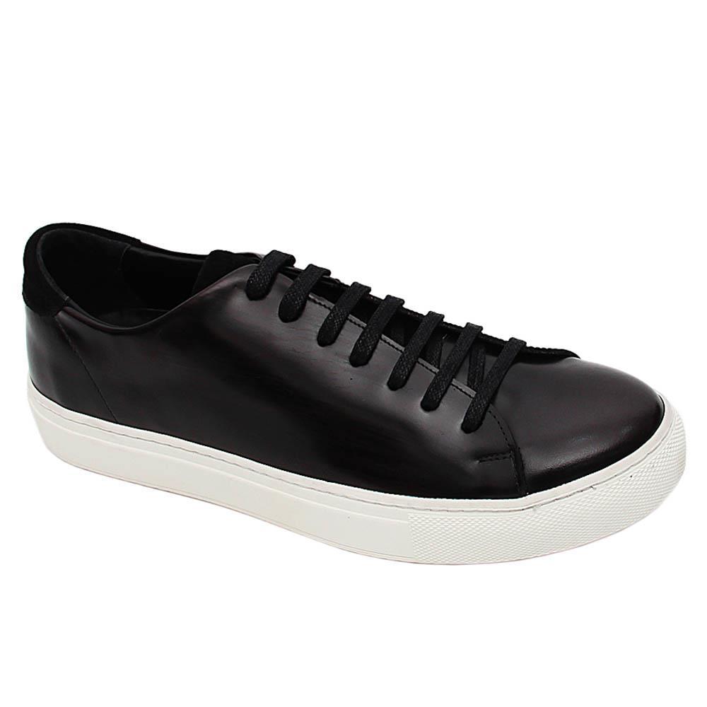 Brownish Black Jorgio Italian Leather Sneakers