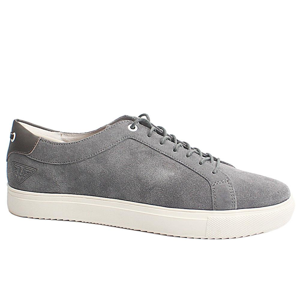 Gray Gold Man Suede Leather Slipon Shoe