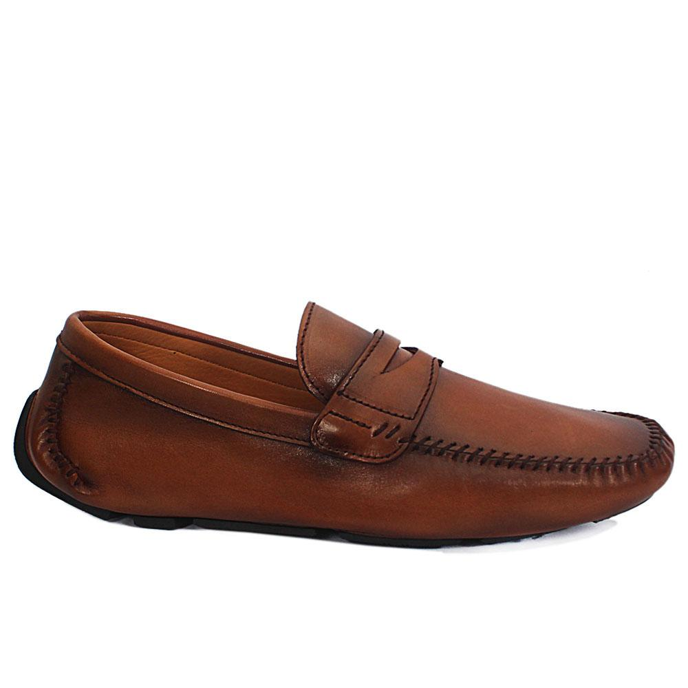 Gen Brown Spiro Leather Drivers Shoe