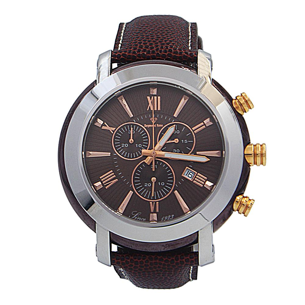 DR 10ATM Brown Rose Gold Leather Chronograph Watch