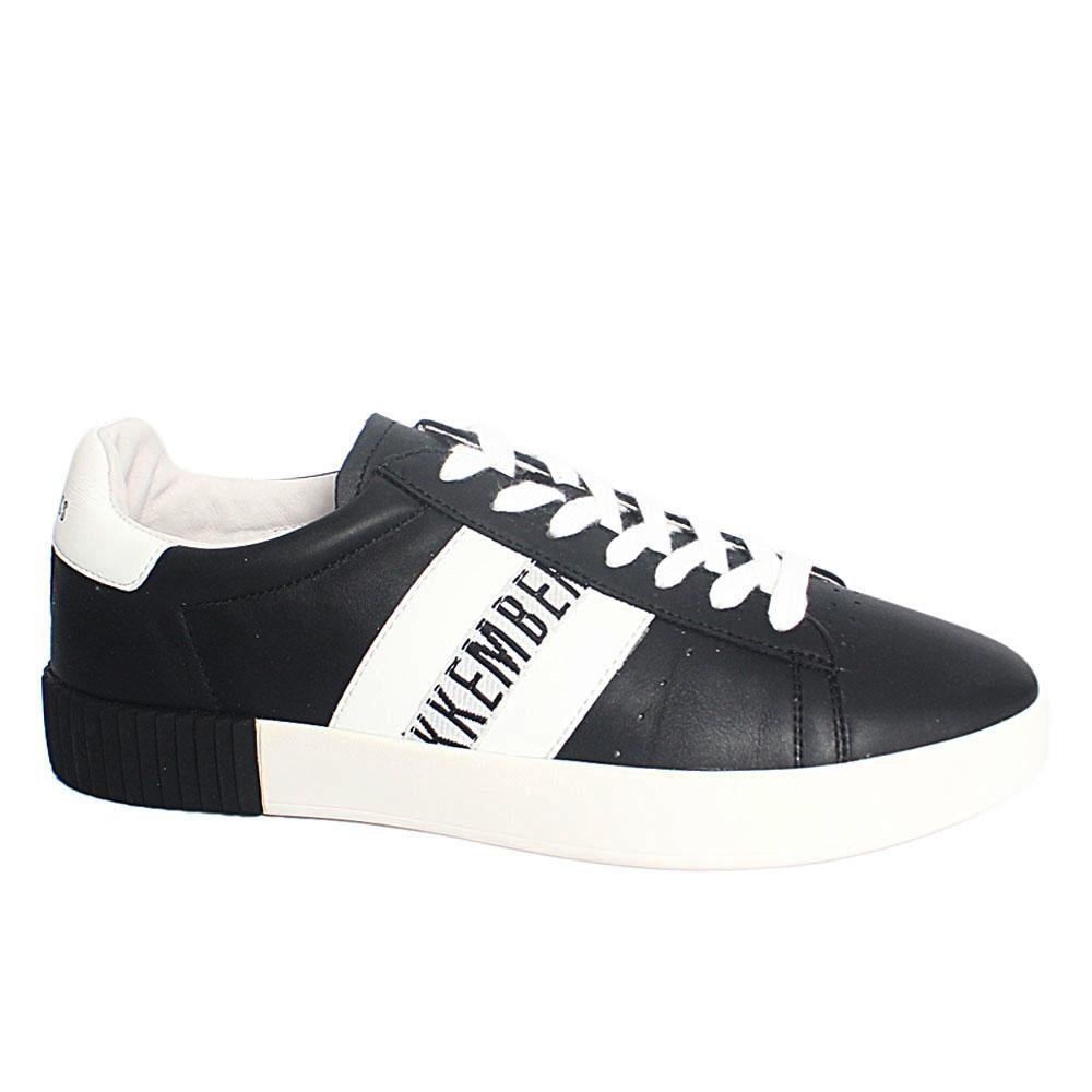 Black Cosmos Breathable Leather Sneakers