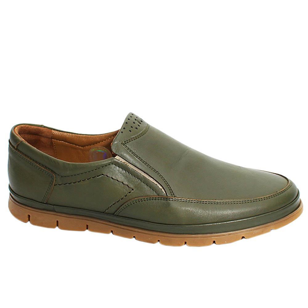 Camo Green Liam Leather Men Slipons