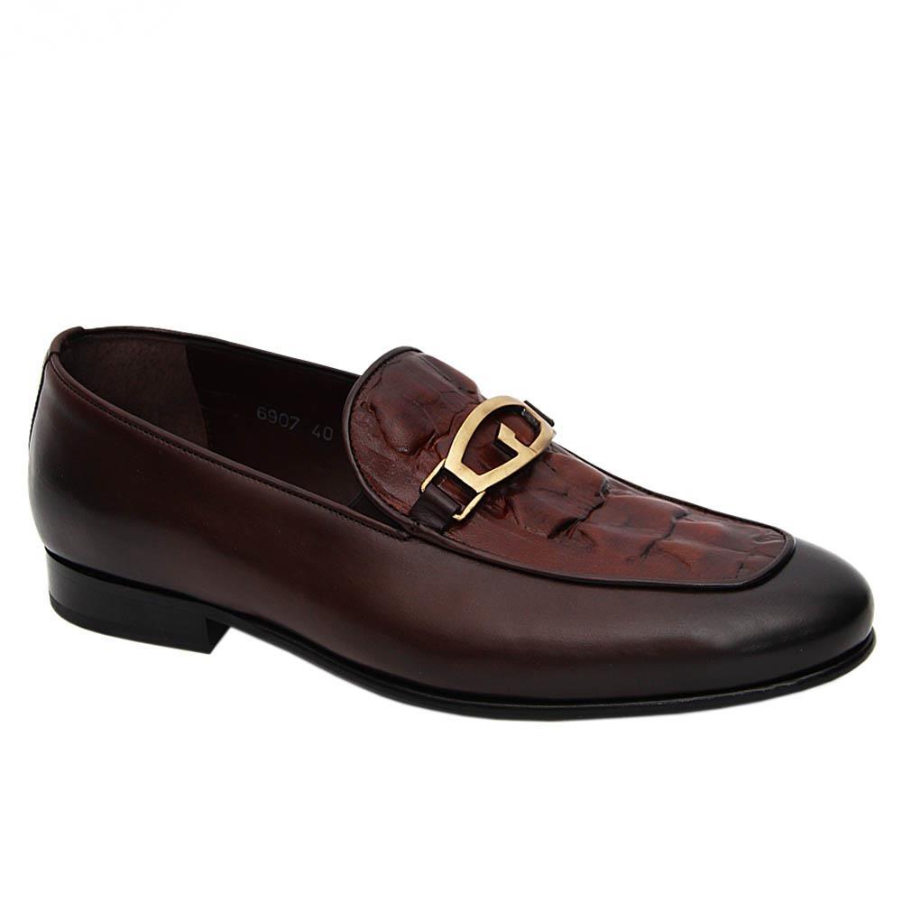 Coffee Leopoldo Italian Leather Loafers