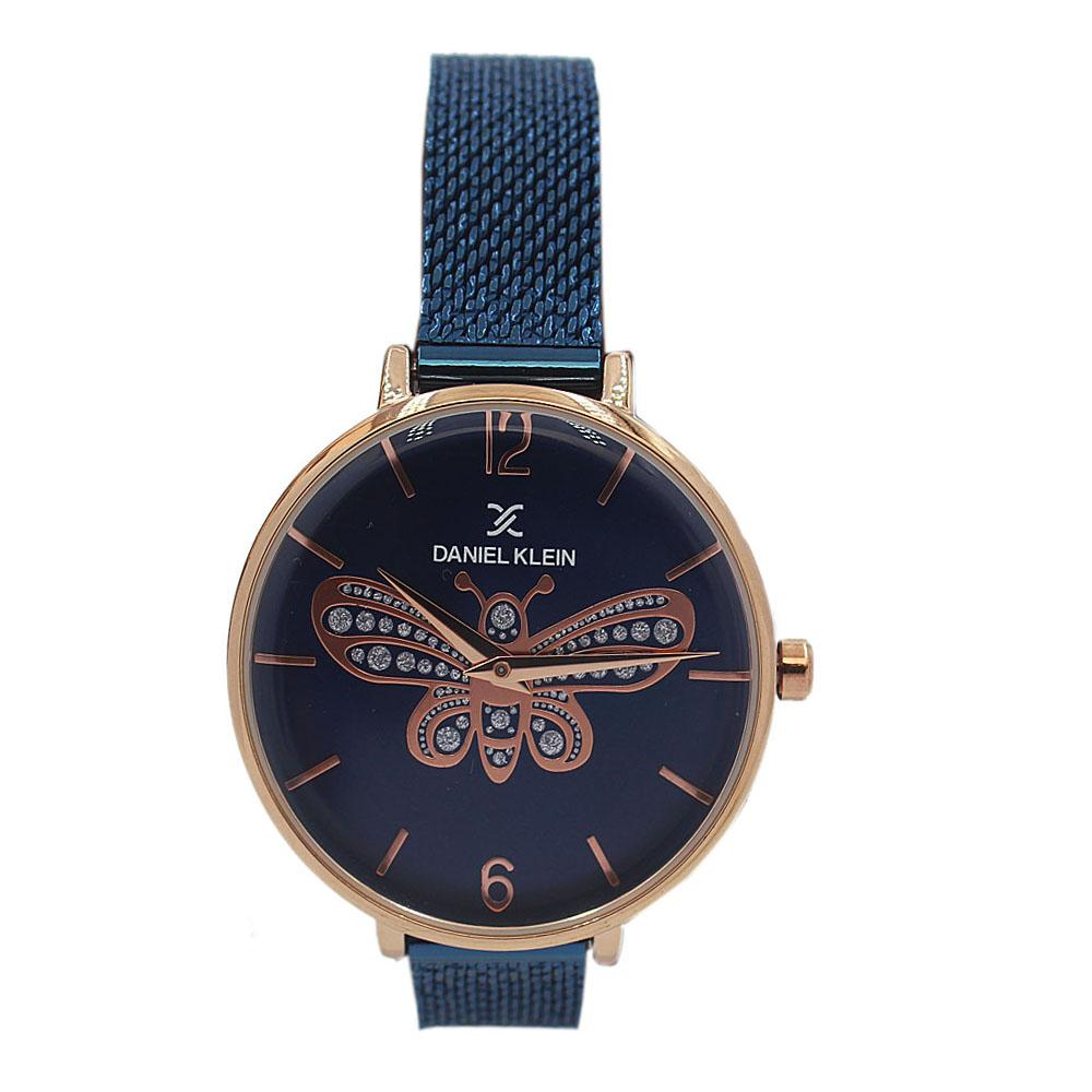 Daniel Klein Butterfly Navy Stainless Mesh Ladies Watch