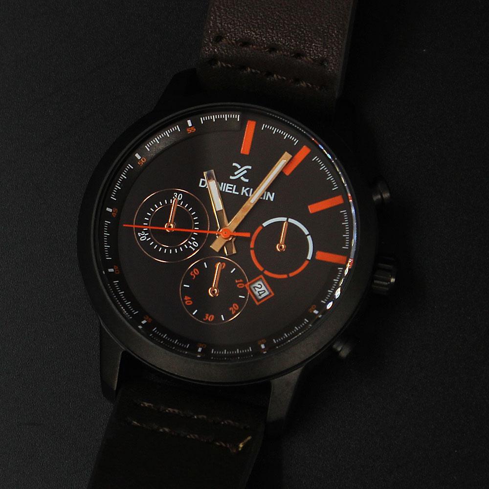 Daniel Klein Diego Coffee Leather Divers Series Watch