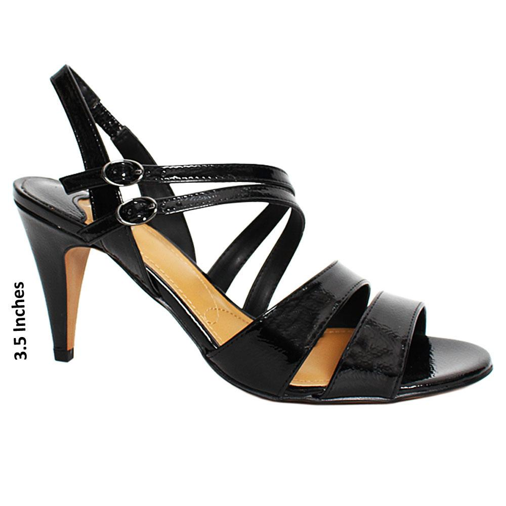 Black Trick Patent Leather High Heel
