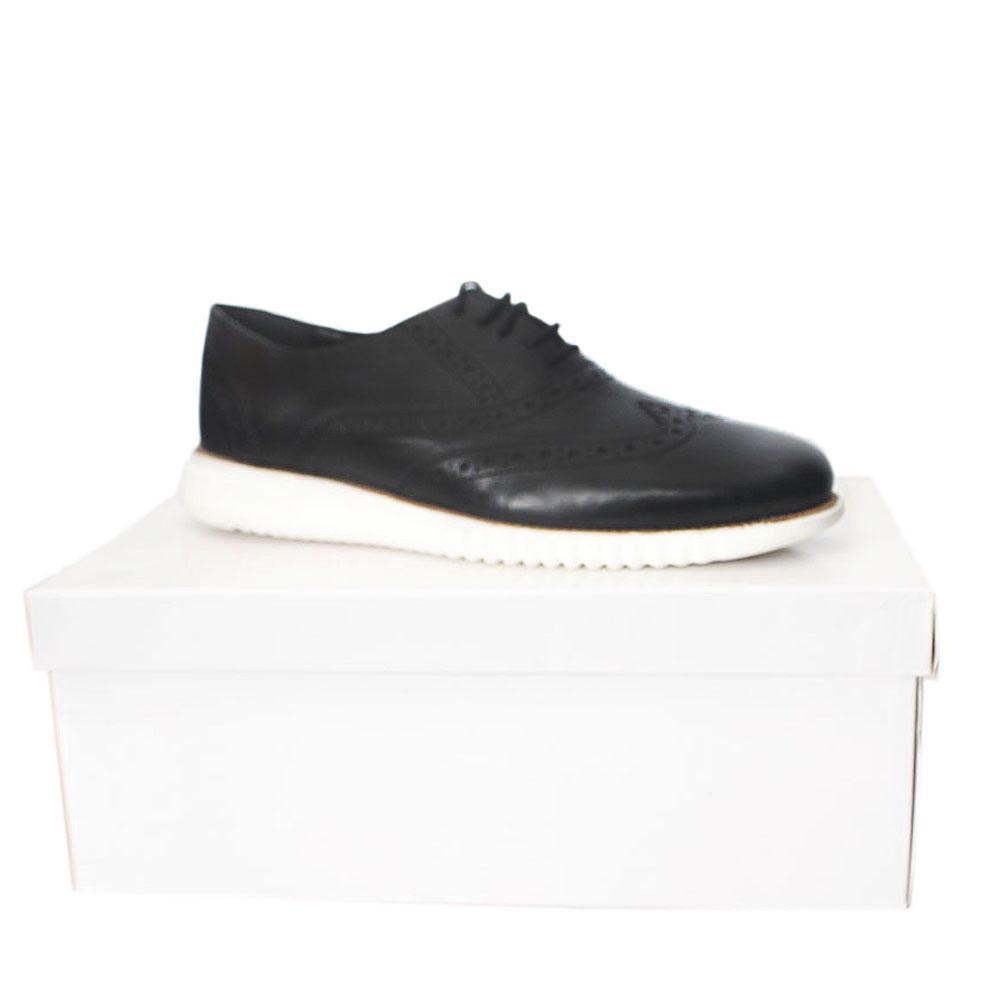 Kurt-Geiger-Blyth-Black-White-Leather-Comfort-Fit-Men-Shoe