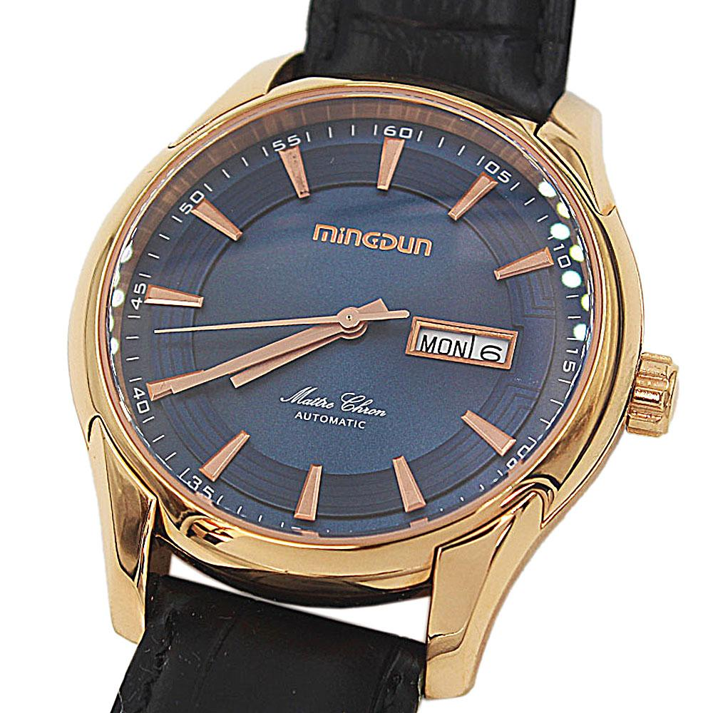 Shanghai Marcello Black Leather Automatic Classic Watch