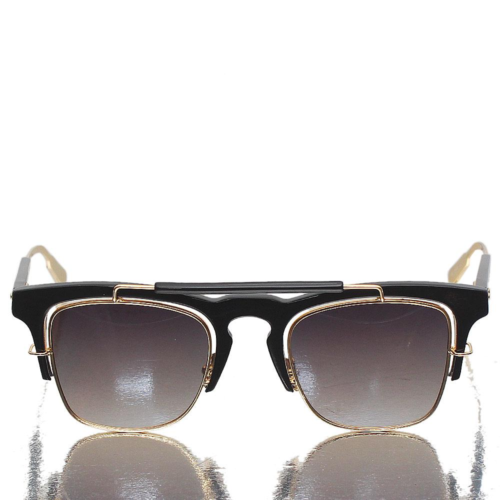 Gold Black Wayfarer Dark Lens Sunglasses