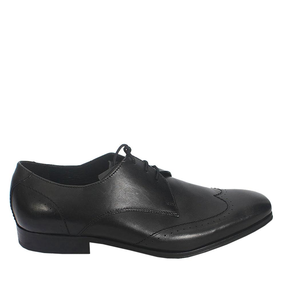 M & S Autograph Black Leather Men Shoe Sz 42