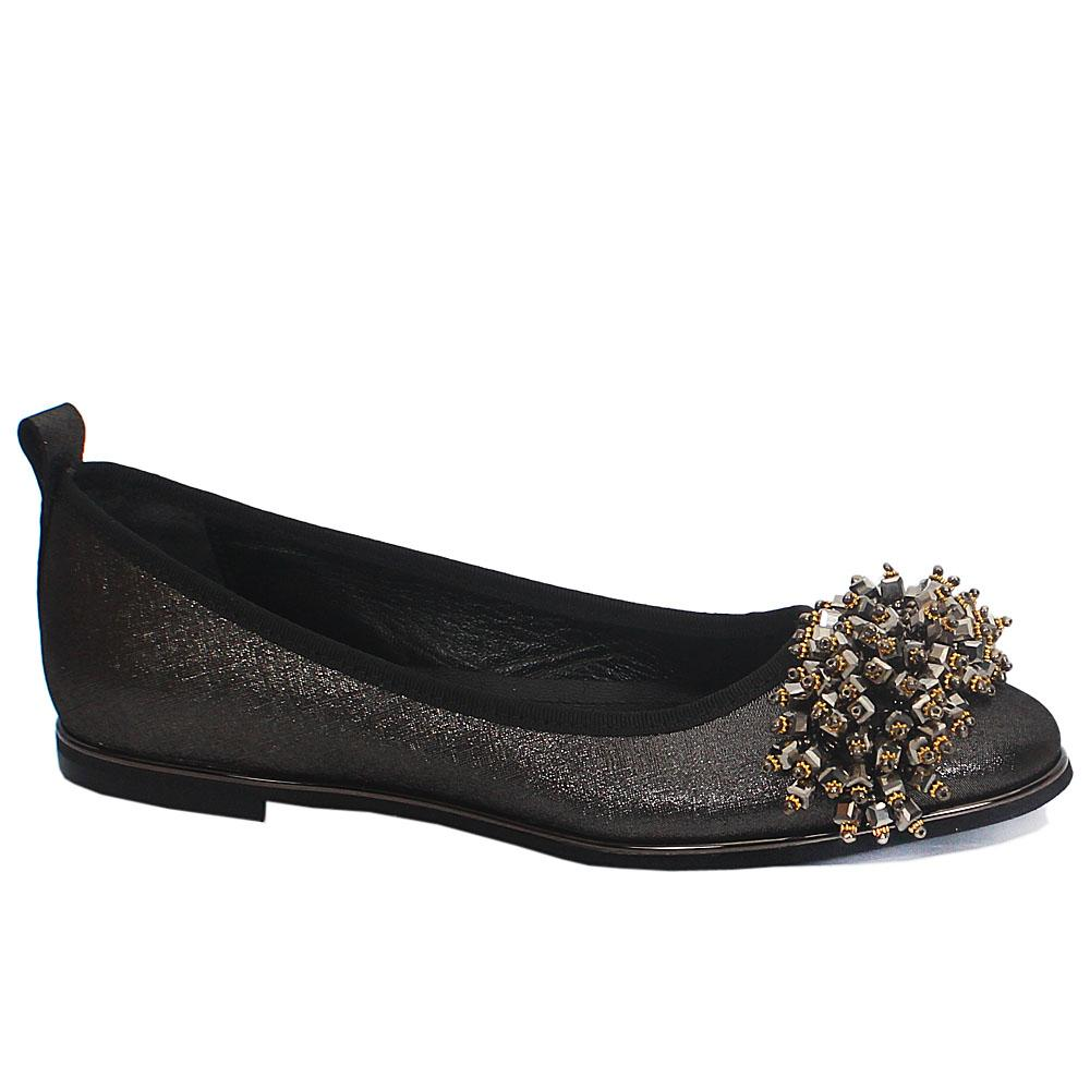Black magnum Leather Flat Shoes