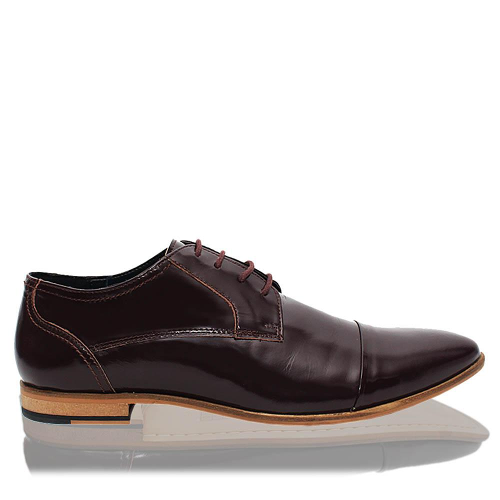 Coffee Newry Leather Men Derby Shoes