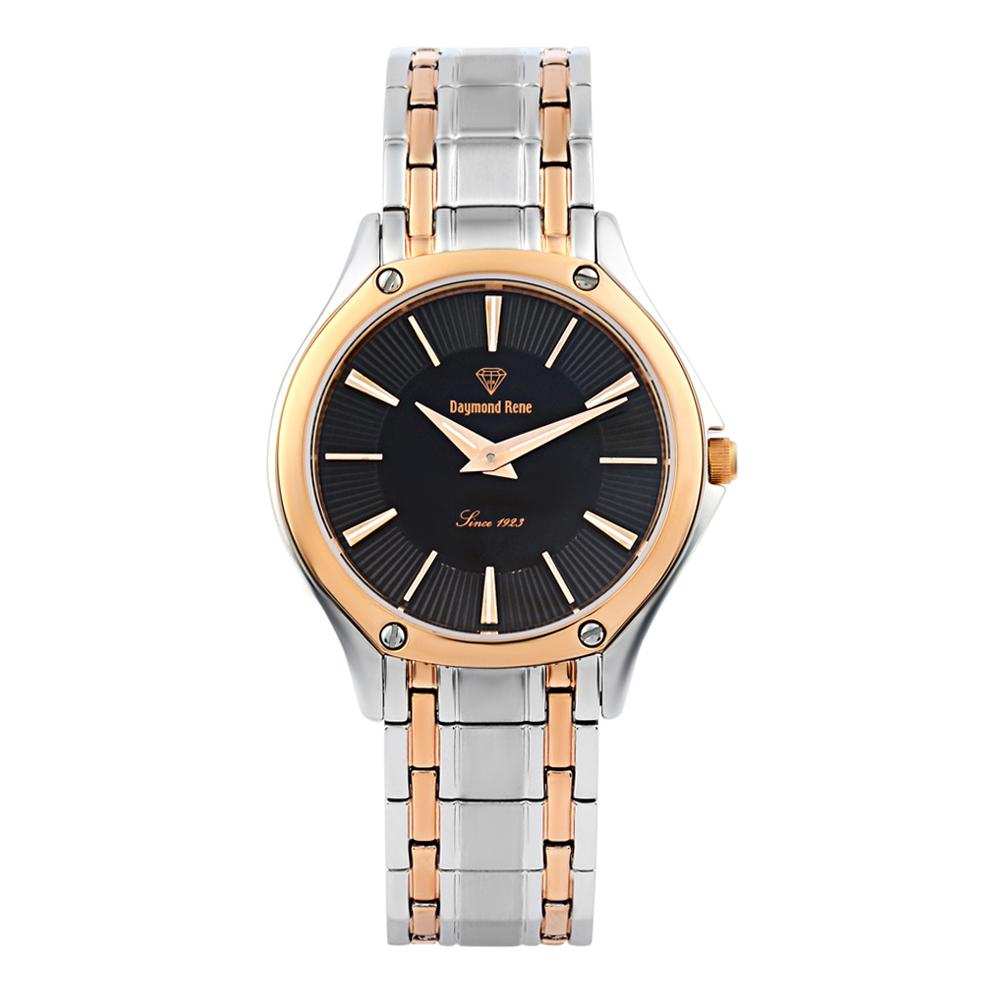 DR 3ATM Silver Rose Gold Stainless Steel Classic Flat Watch