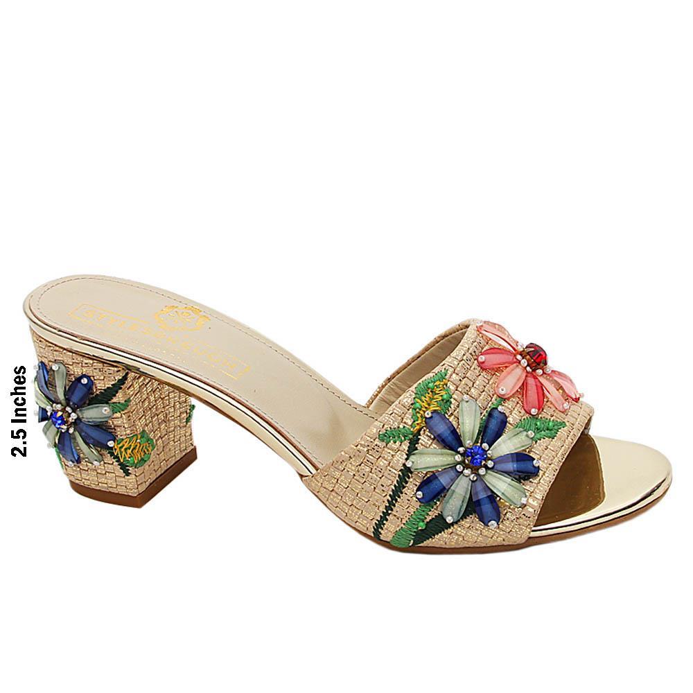Gold Princess Diana Pearl Italian Leather High Heel