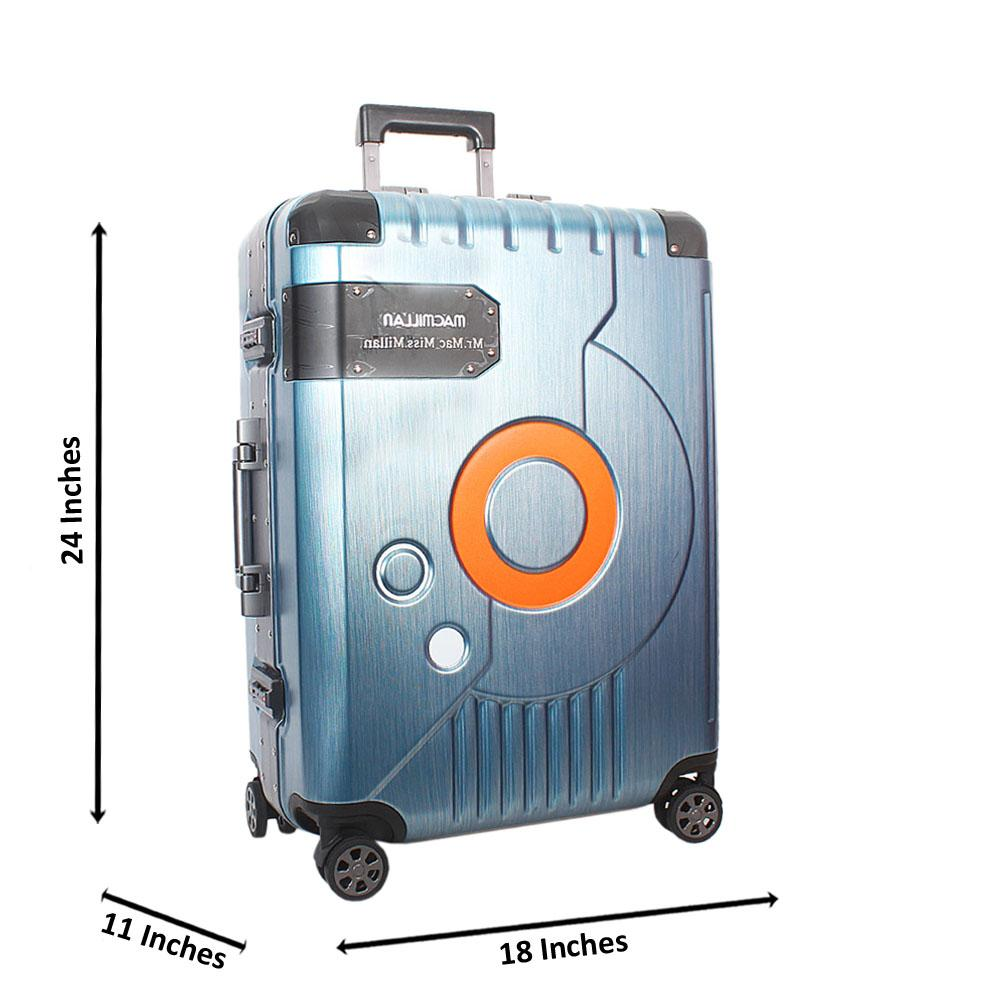 Turquoise Blue 24 Inch Mr& Mrs Hardshell Medium Luggage Wt TSA Lock