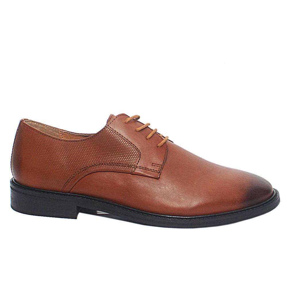 Brown Premium Leather Men Oxford