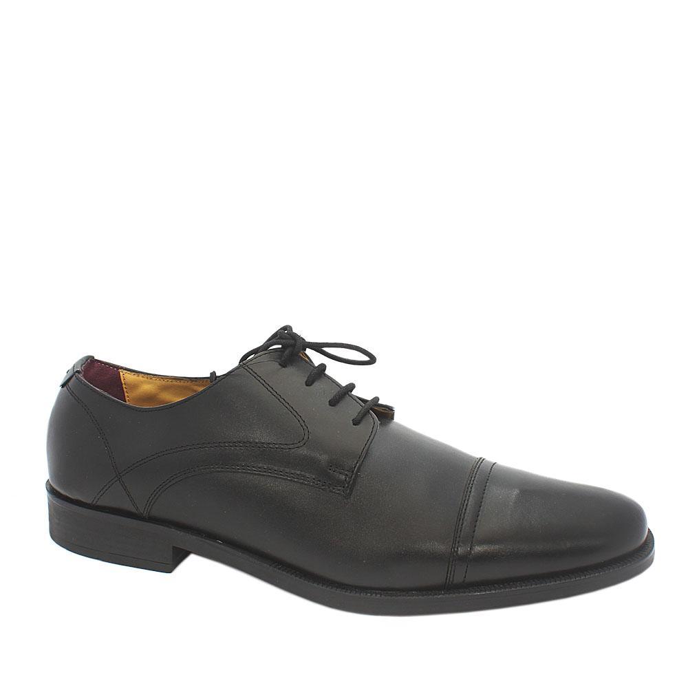Sz 48.5 M & S Luxury Collection Black Leather Men Shoe