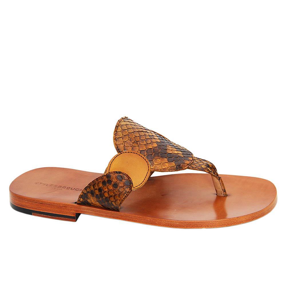 Brown Julian Italian Leather Slippers