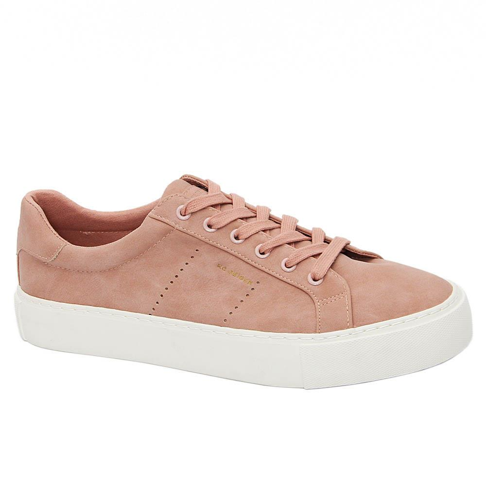 K Geiger Soft Pink Dylan Leather Sneakers