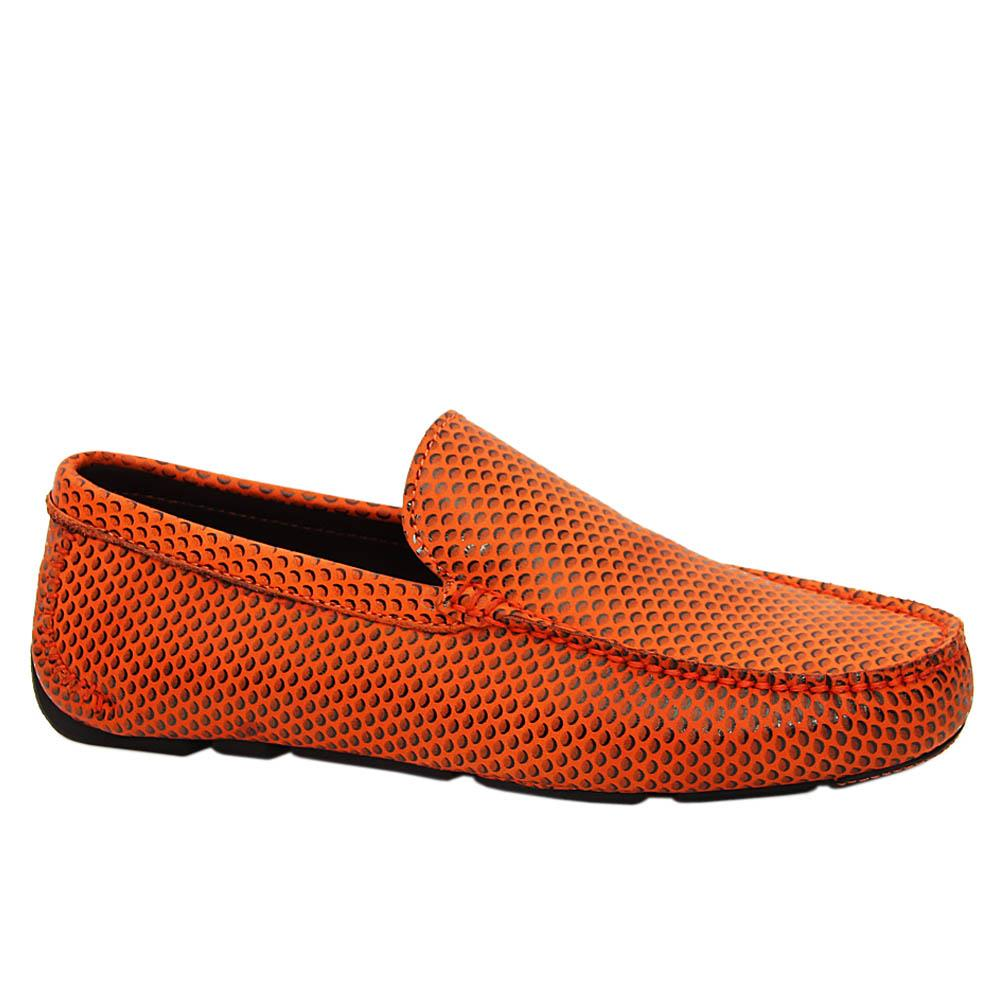 Orange Arrigo Italian Leather Drivers