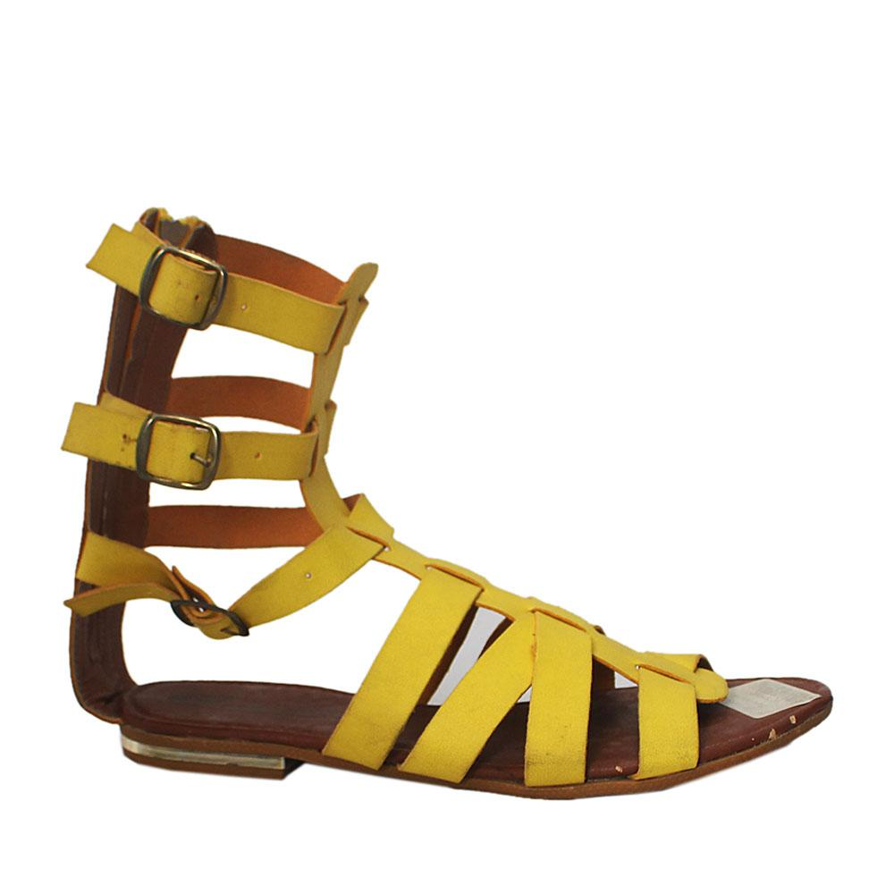 Yellow Continental Gladiator Flat Sandals