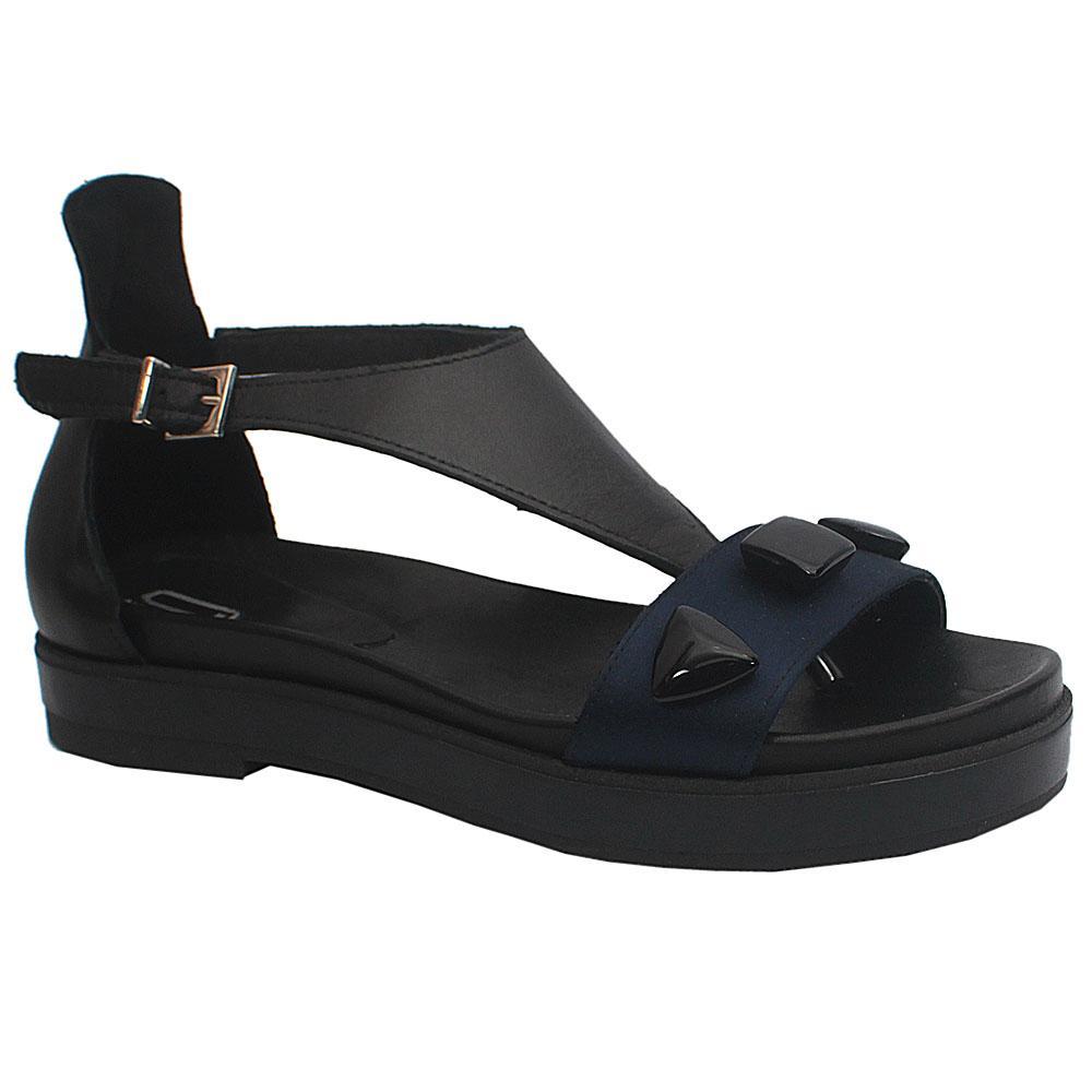 Sz 39 Lublin Black Leather Ladies Sandals