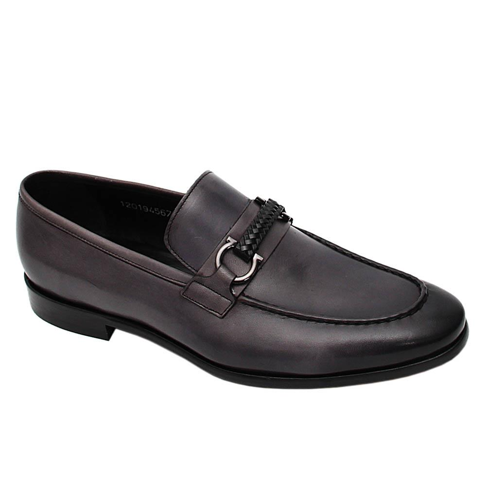 Grey Cuthbert Italian Leather Loafers