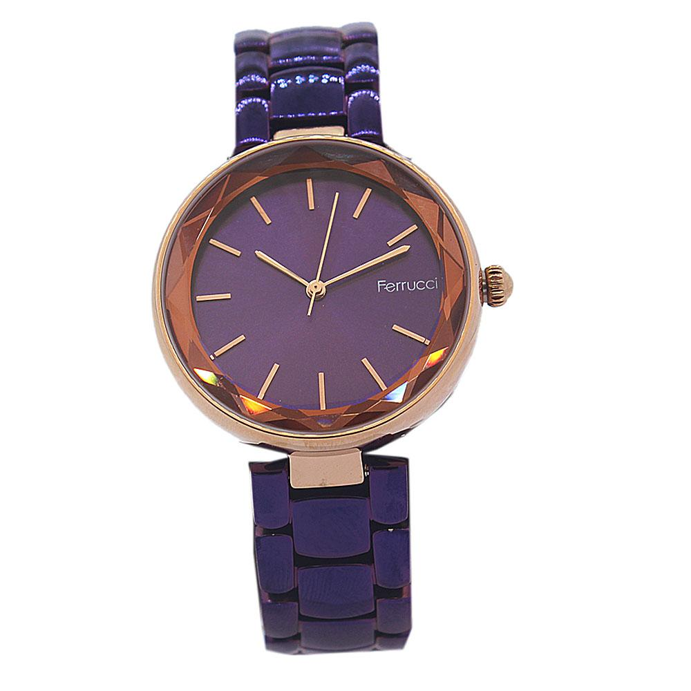 Purple Aleta Stainless Steel Fashion Ladies Watch