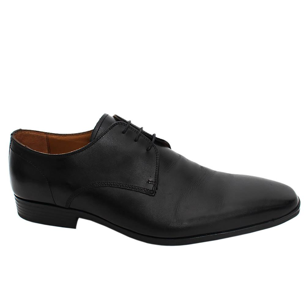 Black Milner Leather Men Derby Shoe